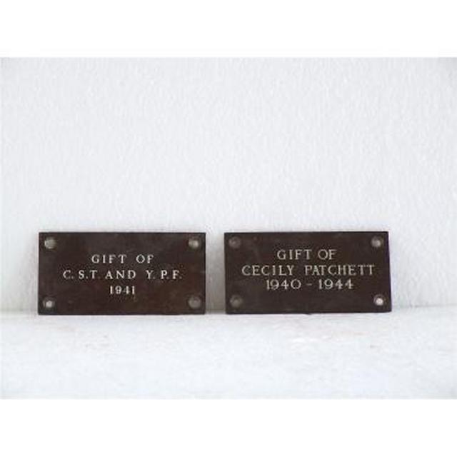 Metal Grave Plaques 2X (102Mm X 51Mm)