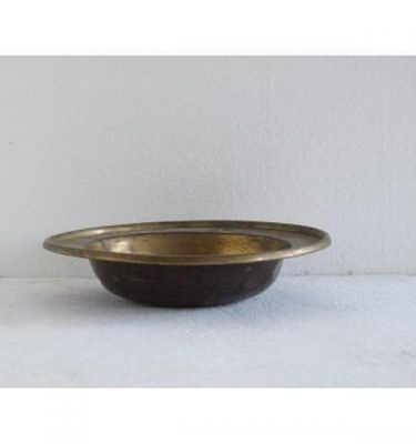 Pair Plain Brass Dishes 51Mm X 190Mm