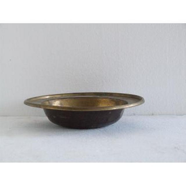 Pair Plain Brass Dishes 51Mm X 190Mm