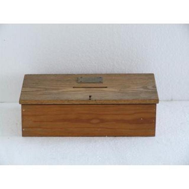 Wood Donation Box Brass Plaque 89Mm X 305Mm