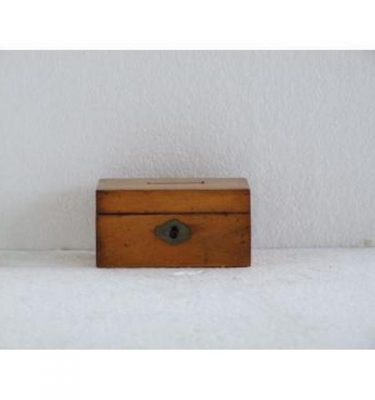 Pear Wood Donation Box 57Mm X 107Mm