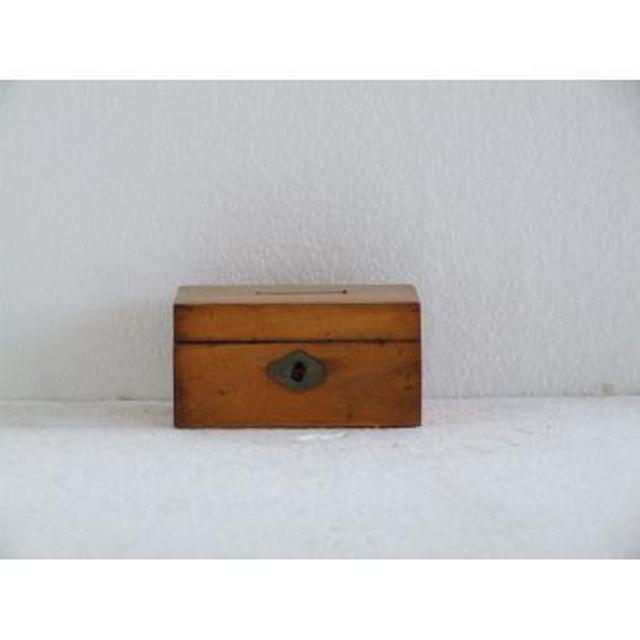 Pear Wood Donation Box 57Mm X 107Mm