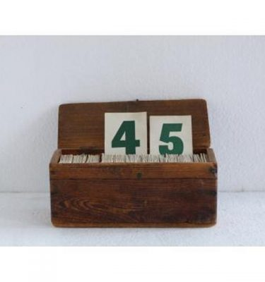 Hymn No. Card Wood Box With Lid 127Mm X 280Mm