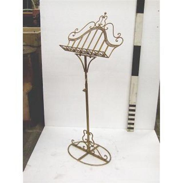 Music Stand Gold Painted