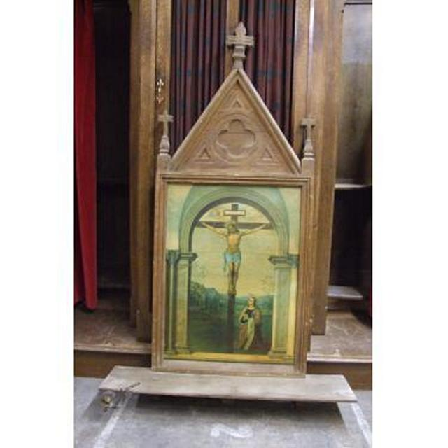 Wall  Painting In Oak Gothic Frame