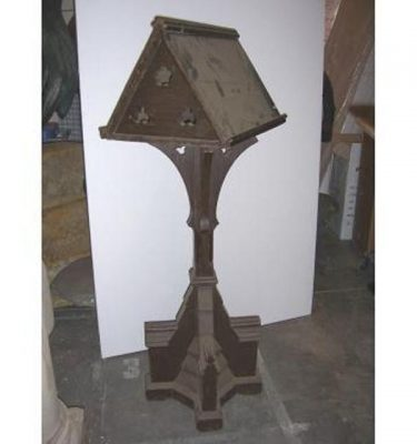 Lectern Carved Tripod Style Base