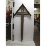 Ww1 Triangle Top French Cross 'Pascal Leconte' (Wood)