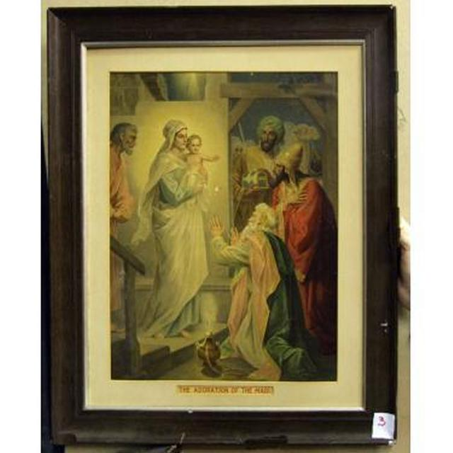 Mahogany Frame 'The Adoration Of The Magi'