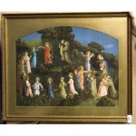 Gilt Frame Circle Of Angels In Garden