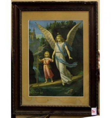 Angel With Wings Walking With Child Jesus