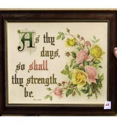 As Thy Days Go Shall Thy Strength Be'