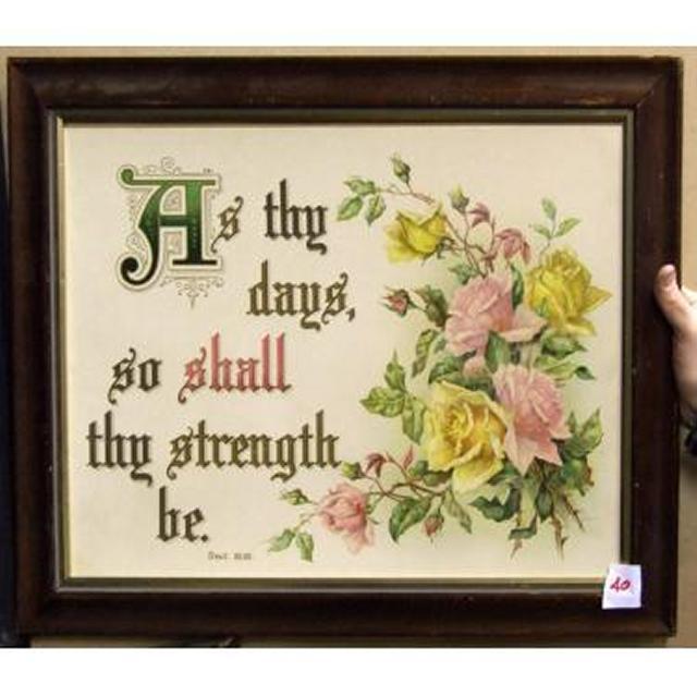 As Thy Days Go Shall Thy Strength Be'
