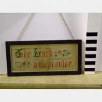 Needlepoint Emdroidered Picture In Frame