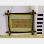 Needlepoint Embroidered Picture In Frame