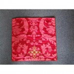 Red Damask Runner With Gold Cross 425Mm X 425Mm