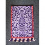 Purple And Red Runner Red And Purple Fringed Edge 460Mm X 325Mm