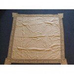 Cream Cotton Runner Lace Inscripted Edge 101Mm X 101Mm
