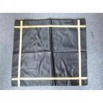 Black Silk Runner Gold Braid 490Mm X 490Mm