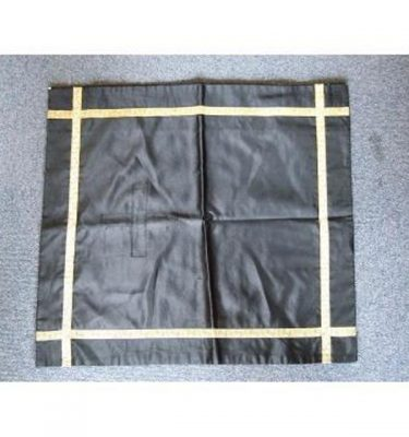 Black Silk Runner Gold Braid 490Mm X 490Mm