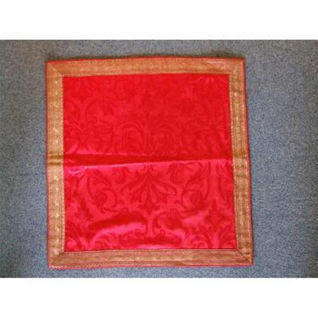 Red Damask Runner Gold Braid Edge 525Mm X 525Mm