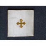 Cream Board With Hard BackStands UprightGold Rope Edge Gold Cross 240Mm X 240