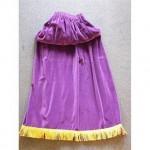 Purple Velvet Single Leg Drape With Gold Fringe 940Mm X 1321Mm