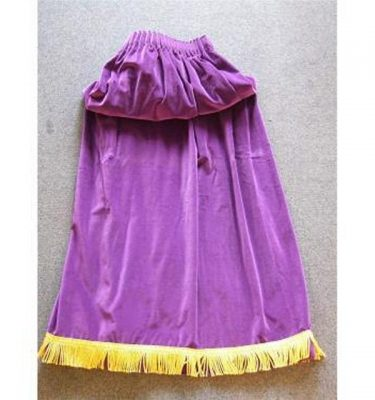 Purple Velvet Single Leg Drape With Gold Fringe 940Mm X 1321Mm