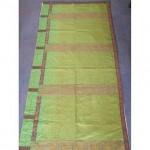Green Damask RunnerVery Long Gilt Braid Edge 1000Mm X 1440Mm