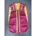 Purple Damask And Gold Braid Priest Tunic