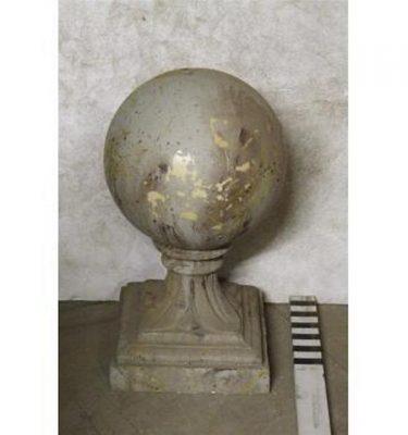 "Grave TopBall FinialFibreglass Stone 28"""""""" X14""""""""Sq"