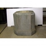 "Plinth Base To Obelisk Top With Cross Relief 41""""""""Sq X 42"""""""""