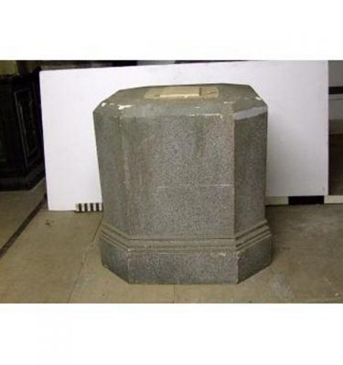 """Plinth Base To Obelisk Top With Cross Relief 41""""""""""""""""Sq X 42"""""""""""""""""""