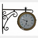 2 Faced Clock Side Attachment To Wall 610Mm H X670Mm From Wall X380Mm Diameter