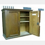 Pitchpine 2Dr Cupboard And Shelves X2 910X810X355D