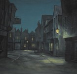 Backdrop 004 Victorian Dickensian Street At Night 15'X15'RNcan Be BacklitRN