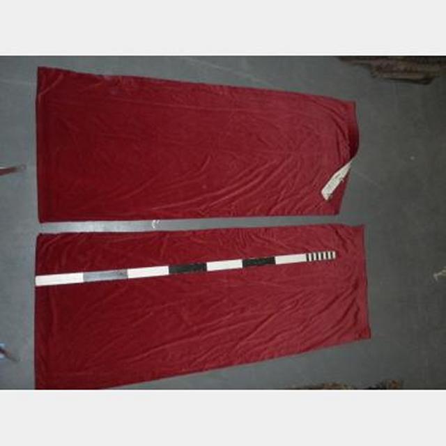 3'8W.O.Fx9'Drop Plain Red Velvet Drape