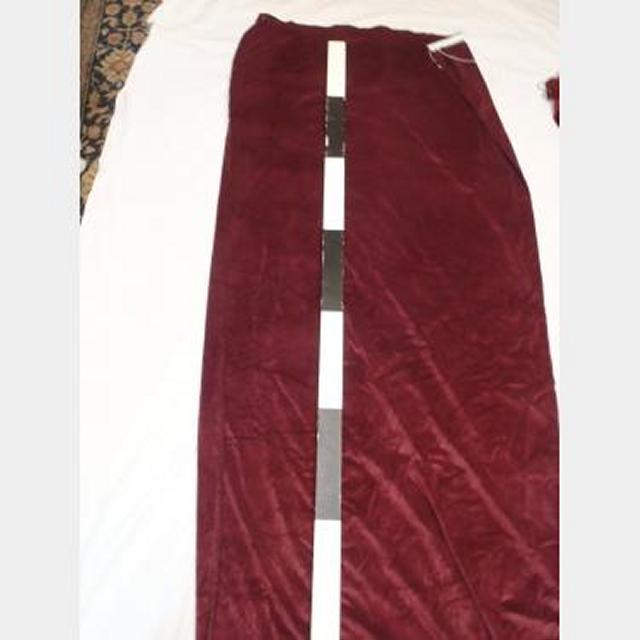 1200 Without Fullness X 1900Mm Drop Plum Velour Drape Pair Pencil Pleat