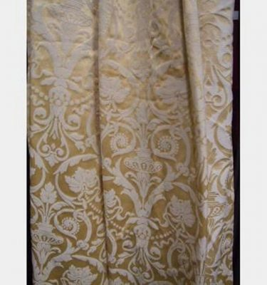 1200 Without Fullness X 3200Mm Drop Gold Baroque Drapes Pair Pencil Pleat