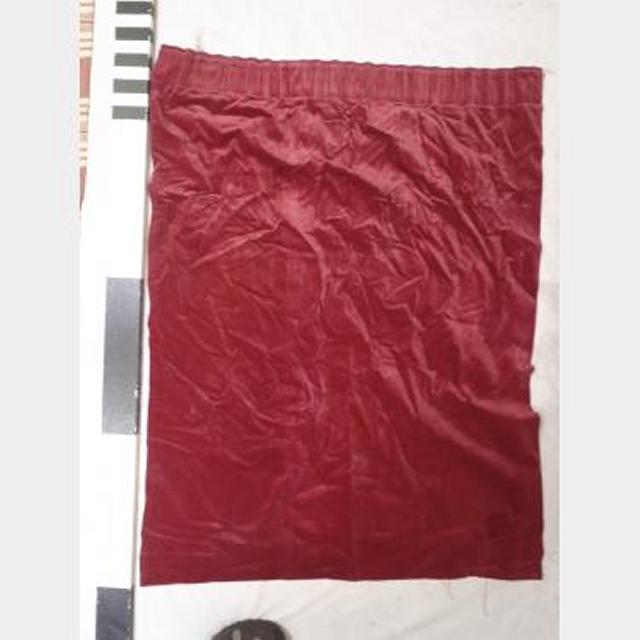 800 Without Fullness X 1000Mm Drop Red Velvet Drape Lined Scht