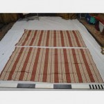 1900 Without Fullness X 1000Mm Drop Red Brown Striped Curtain Pair Curtain Wire