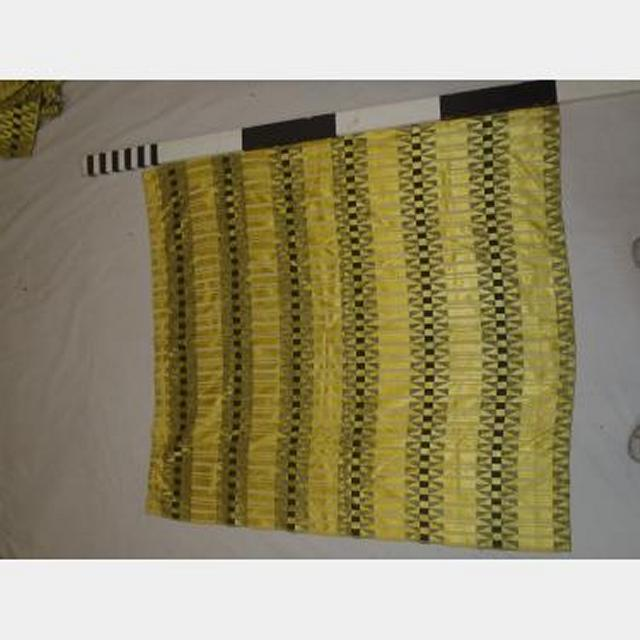 1200 Without Fullness X 1300Mm Drop Yellow Striped Curtain Scht