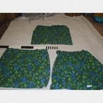 1000 Without Fullness X 900Mm Drop Green Floral Curtains X3 Scht