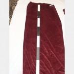1100 Without Fullness X 3000Mm Drop Port Wine Velvet Drape Double Sided Scht