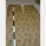 800 Wf X 2900Mm Drop Gold Flower Pattern  Curtain 2 Pairs Scht Good Condition