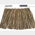 960 With Fullness X 760Mm Drop Khaki Gold Velour Curtain Gold Curtain Rings X12