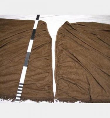 4600 Without Fullness X2450Mm Drop X4 Brown Velour Pair No Fixings Curved End