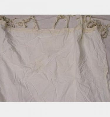 White Cotton Curtain Lining With Ties 9200X3300Mm