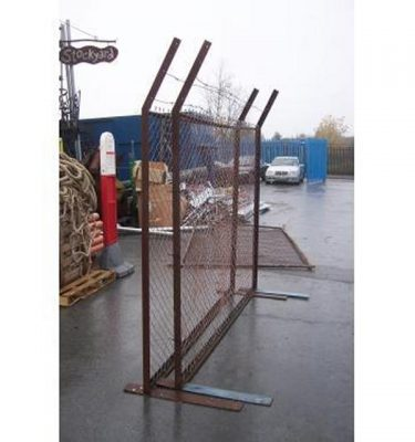 Security Fence Panel With Barbed Wire X10  2440X2300H