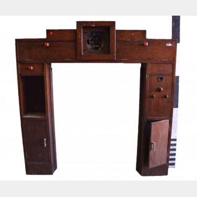 1920S Fire Place With Inbuilt Radio And Cupboards 1390X1320Mm