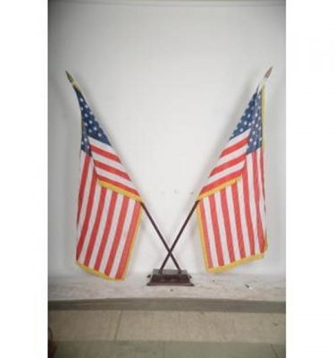 Flags U.S.A With Stands X2